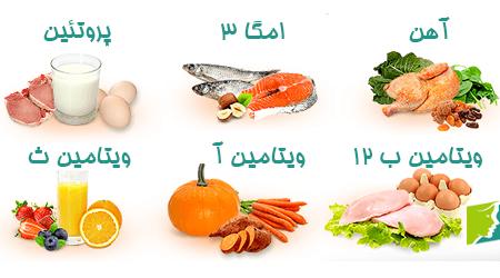 مواد خوراکی برای جلوگیری از ریزش مو