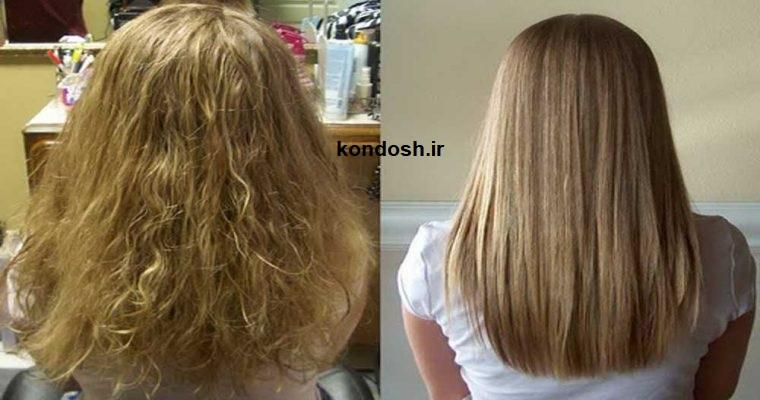 درمان موهای وز و موخوره با بوتاکس مو یا کراتین